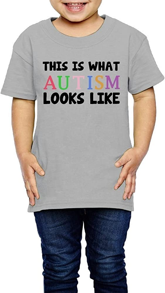 Kcloer24 This is What Autism Looks Like Boys Girls Cute T-Shirt Summer Clothes 2-6 Years Old