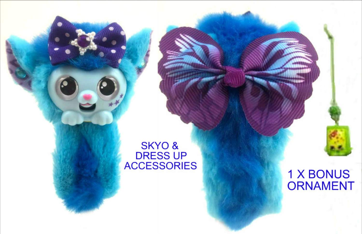 Twisted 2 Perfection Little Live Wrapples with Dress Up Accessories /& Bonus Ornament Little Live Pets /& Twisted 2 Perfection Gift Bundle Luna Wrapples