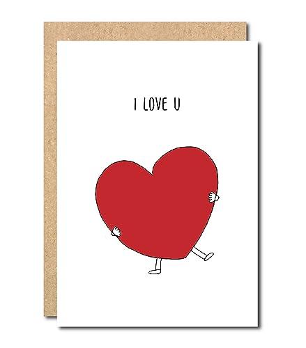Funny I Love You Anniversary Card Boyfriend Husband Valentines