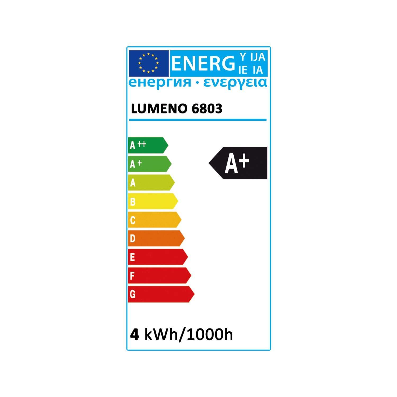 Lumeno 6803 Lámpara Lupa LED con Pinza y 32 SMD-Leds, 4 vatios, 300 Salones de Belleza, consultas médicas, Artesanos Aficionados.