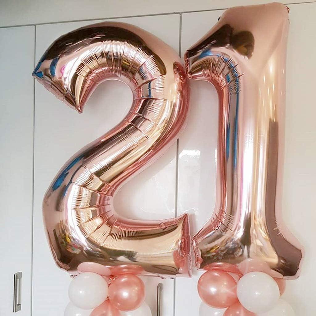 Happy Birthday Banner Globo Carta Globos de Papel Aluminio Gigante N/úmero 12 y Coraz/ón Globos,12 A/ños Fiesta de Cumplea/ños para Ni/ñas y Ni/ños Feelairy 12 Cumplea/ños Globos Decoraci/ón Oro Rosa