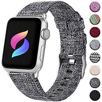 Amazon.com: TOMS Apple Watch Band (Blue/White Stripe, 42mm