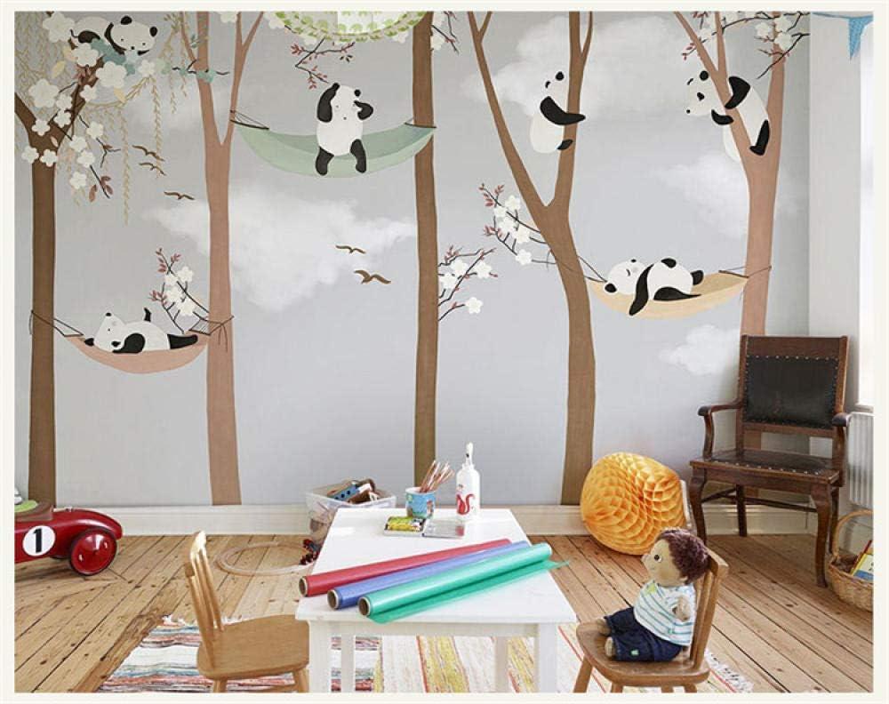 Grandes Peintures Murales De Dessins Anim/és De Dessins Anim/és De Panda Pour B/éb/é Enfant Mur De La Chambre Photo Murale Papier Peint,150Cmx105Cm