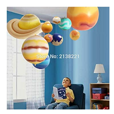 Luxury & Trendy 10 Pieces/Set Solar Galaxy Teaching Model Balloons Charm Simulation Nine Planets in Solar System Children Blow Up Inflatable Toy: Toys & Games
