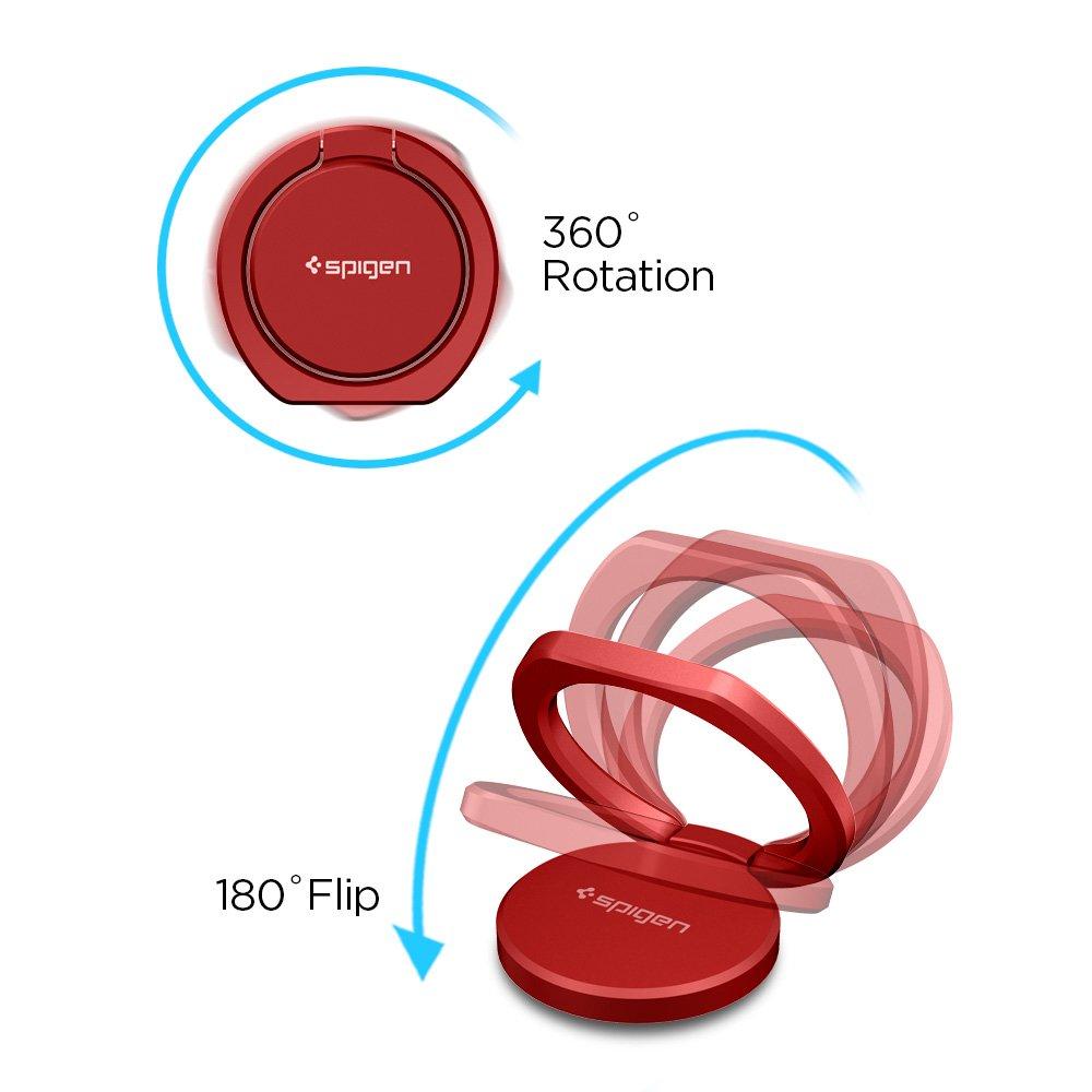 Spigen Support Bague, Style Ring Rotation /à 360/° Support de Voiture Support Telephone Anneau Gunmetal