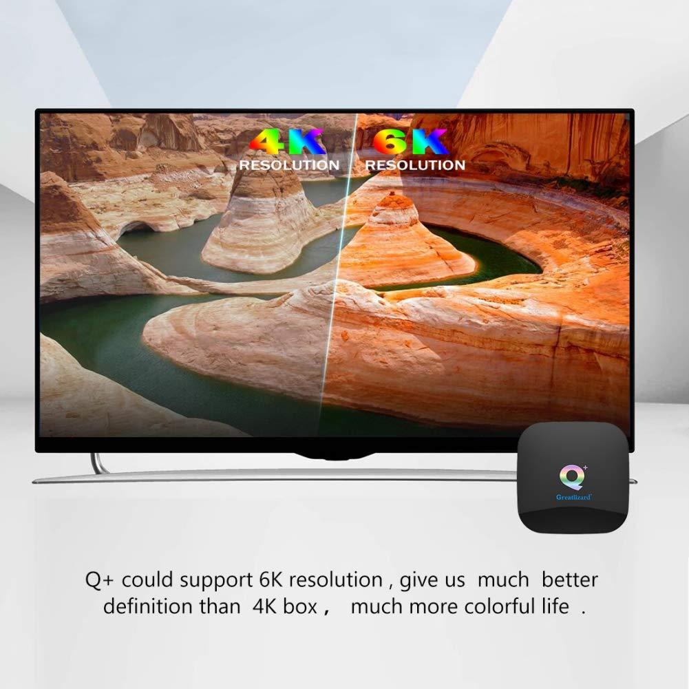 Greatlizard Android 9.0 Q Plus TV Box 4GB RAM 64GB ROM 4K HD H6 Quad Cord 2.4G WiFi Smart TV Box by Greatlizard (Image #4)