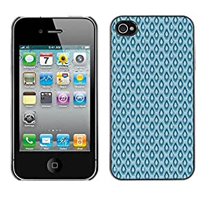 ZECASE Funda Carcasa Tapa Case Cover Para Apple iPhone 4 / 4S No.0000596