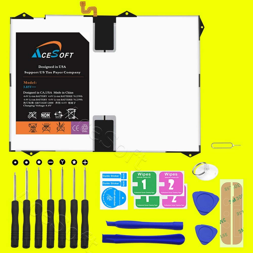 6100mAh Internal Battery Replacement Kit for Samsung Galaxy Tab S3 9.7 with S Pen SM-T827V with Repair Replacement Kit