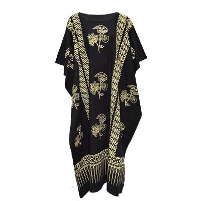 Cool Kaftans - Vestido - para Mujer Negro Negro: Ropa y accesorios