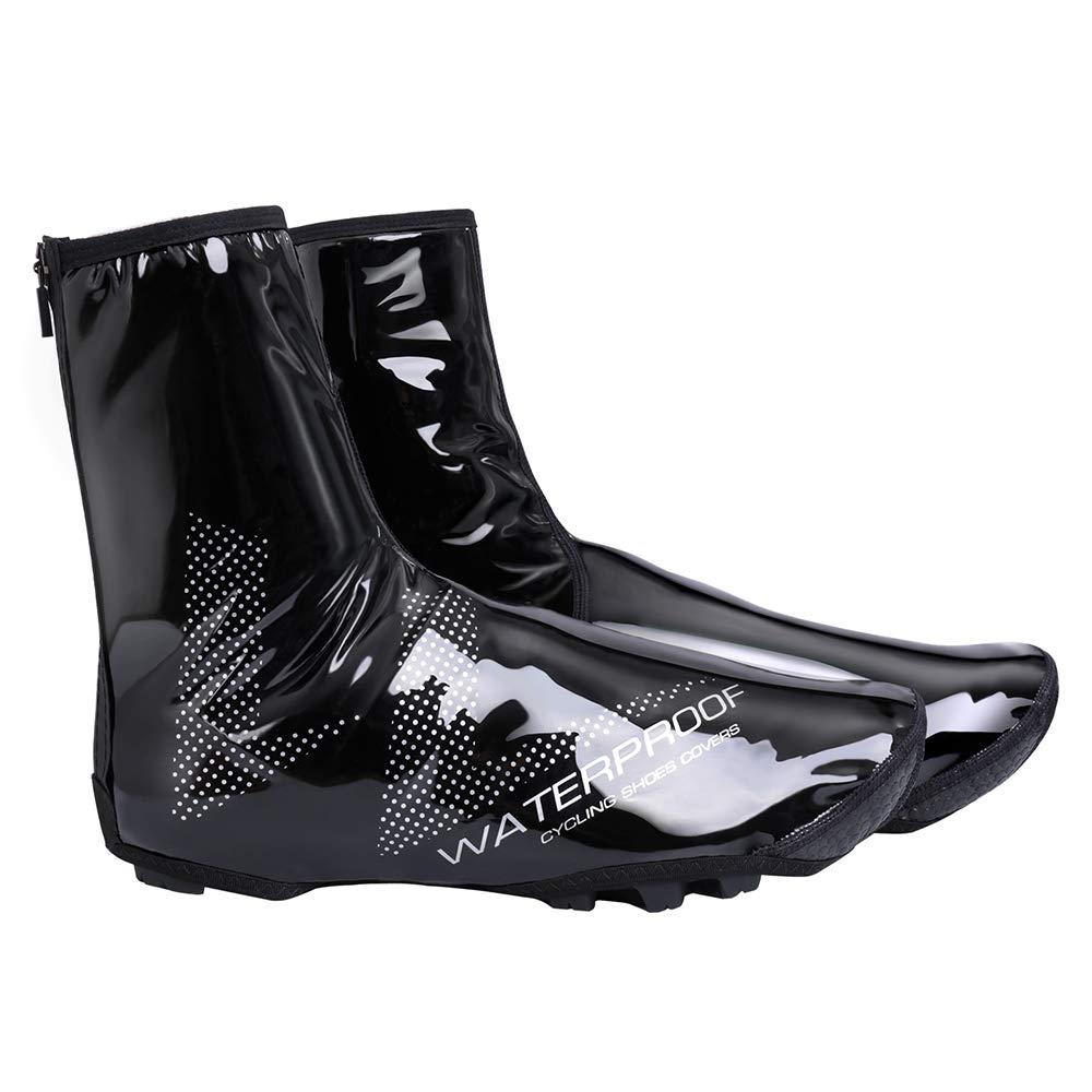 Lixada Couvre-Chaussures de Vélo Imperméables VTT Couvre-Chaussures à Pédales pour Vélo Coupe-Vent Vélo de Route