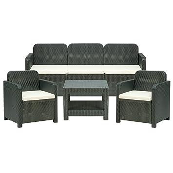 Trio - Muebles de salón en ratán - Sillones y mesa para ...