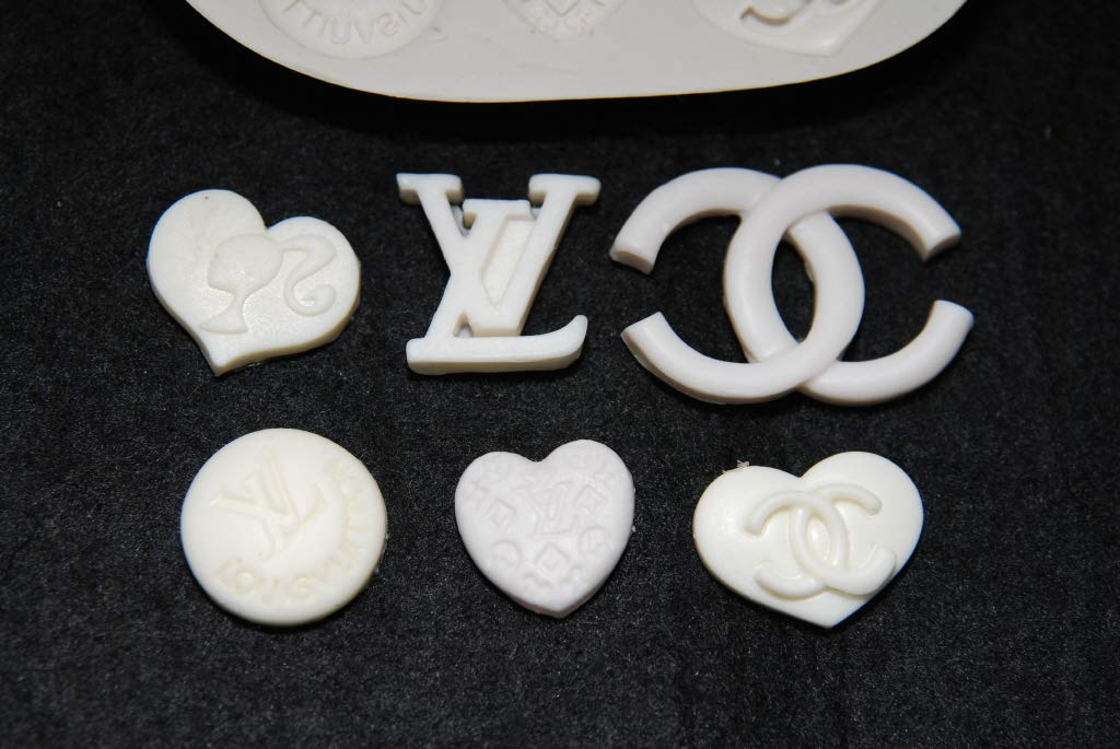 Logo Set#1 Handmade Silicone Mold Mould sugarcraft Candle Clay ice Tray Chocolate soap Making