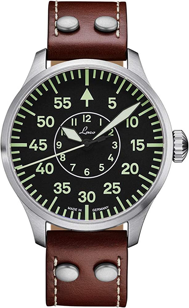 Reloj Laco Modelo Aachen, automático, Acero Inoxidable, Cristal Zafiro, diámetro 39 – 42 mm, Color Plateado y marrón