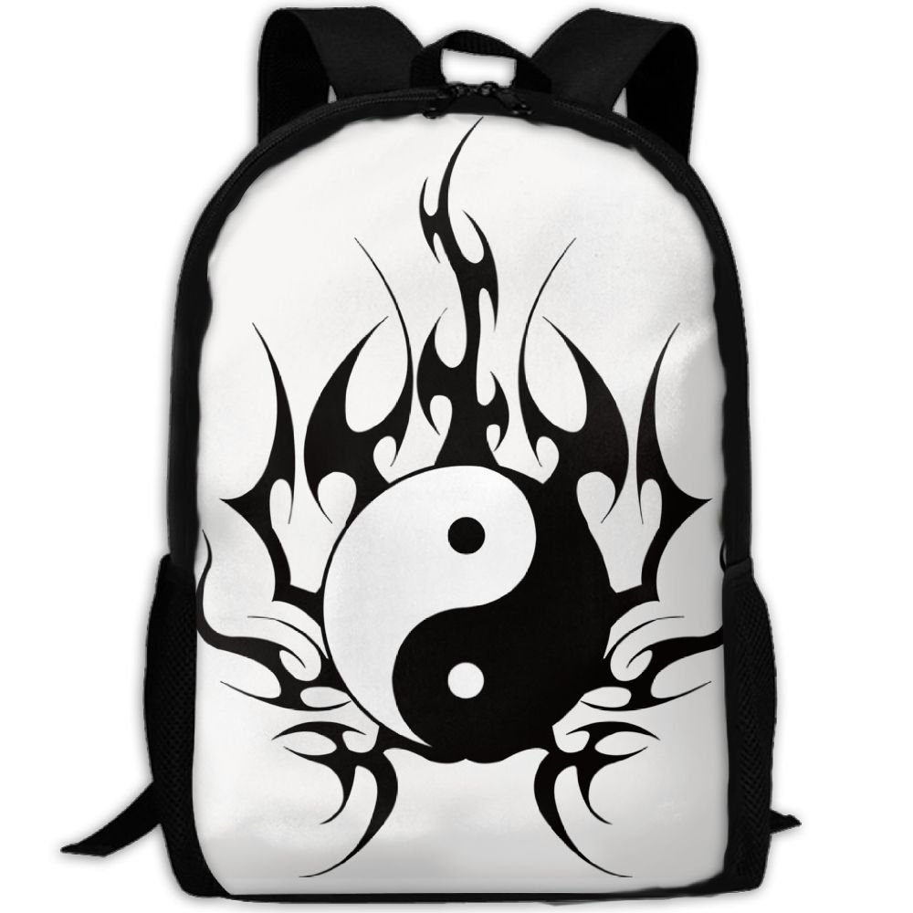 a001916dfd low-cost ZQBAAD Yin Yang Tribal Art Luxury Print Men And Women s Travel  Knapsack