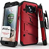 Image of Zizo Galaxy S7 Edge Case, Bolt Cover [Dual-Layered] Slim Armor [Military Grade Certified] Kickstand Holster Belt Clip Lanyard