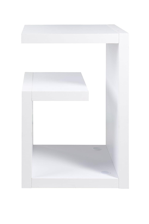 Wei/ß Ph/önix 148203WE Bianco Tavolino dappoggio Los Angeles a Forma di Serpente