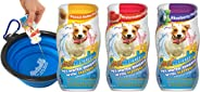Spetacular Vitamin Boost and Electrolyte Liquid Supplement for Dogs - Variety Pack with Bowl