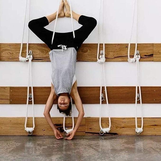 Juego de cuerdas invertidas de yoga para la pared: dos ...