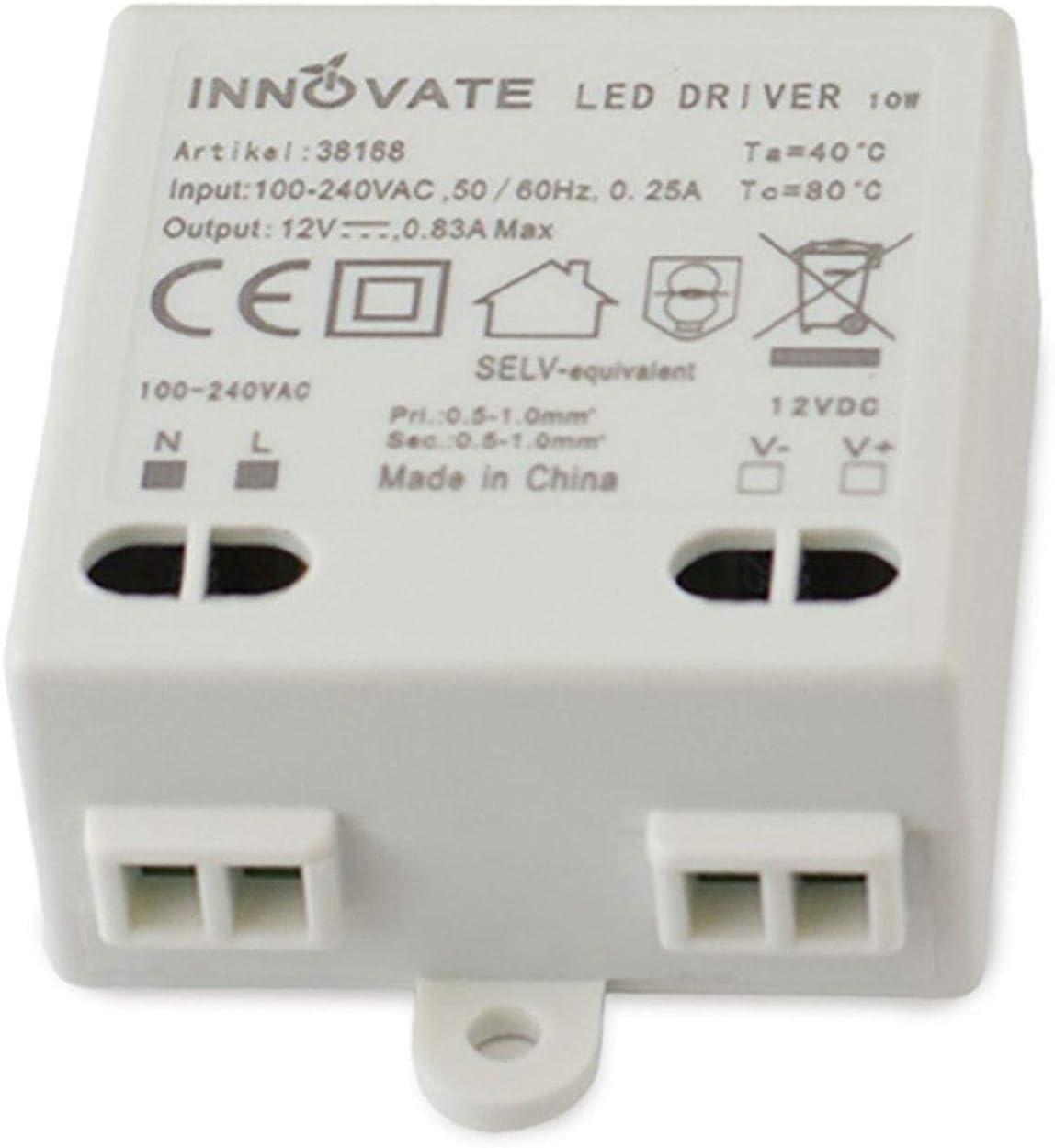 Innovate LED transformador Mini 12V/dc, 0–10W–Mini transformador/fuente/Driver