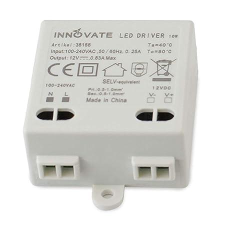 Innovate LED transformador Mini 12 V/dc, 0 – 10 W – Mini transformador/fuente/Driver