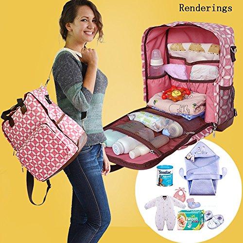Global- 28 * 14 * 35cm Las mujeres embarazadas Saliendo mochila, de gran capacidad paquete de la momia, de la manera extraña de viaje esencial multifunción mochila