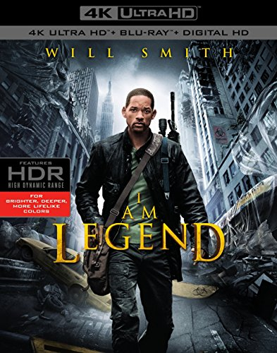 4K Blu-ray : I Am Legend (4K Mastering, Ultraviolet Digital Copy, 2 Pack, 2 Disc)
