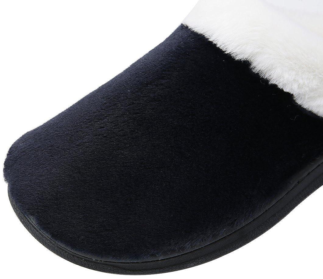 AMENITIES DEPOT Mens Comfort Slip On Memory Sponge Indoor House Slippers