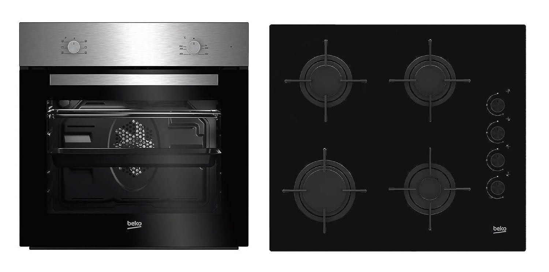 Beko BSE21031CXD - Cocina (Integrado, Negro, Acero inoxidable ...