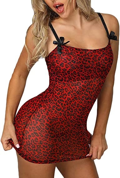 Red Black Eyelash Embroidered Lace See-Through Babydoll Camisole G-string Set