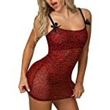 Women Sexy Bow Leopard Print Style Lingerie