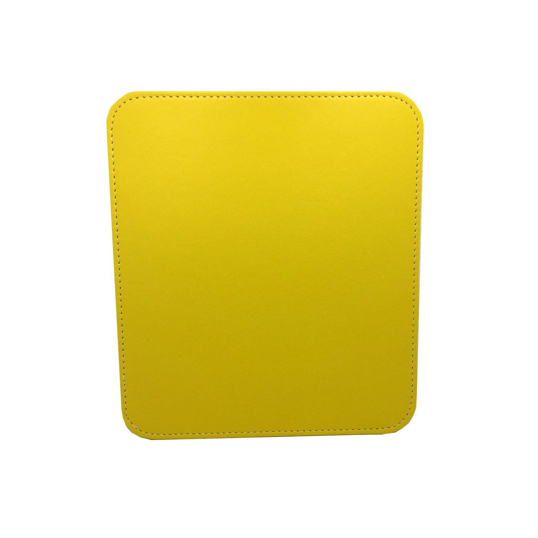 DSZQ Alfombrillas de ratón,Mouse pad,Teclado Pad,Tapete cuero de mesaImpermeables de cuero Pad,Tapete Amarillo c8ffc7