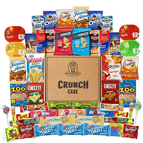 Mega Snacks (50 Count) Variety Care Package Gift Box - College Students, Military, Work or Home - Over 3 Pounds of Snacks! ()