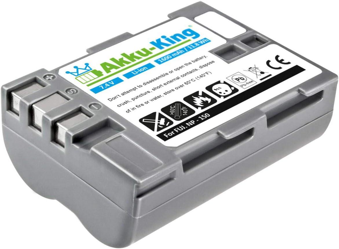 Akku King Akku Kompatibel Mit Fujifilm Np 150 Li Ion Kamera