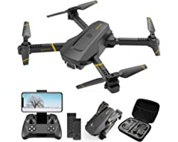 4DRC V4 Drone with 1080P HD Camera for adults, FPV Live Video Foldable RC Quadcopter Helicopter Beginners Kids Toys, 2 Batter