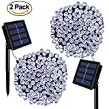 Appliances : Solar Powered String Lights ,Solarmks Solar Lights Outdoor 72ft 8 Modes 200 LED Christmas Lights , Ambiance Lighting for Gardens Patio, Xmas Tree,Holiday, Christmas, Party (White ,2 of Pack)