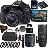 Canon EOS 80D DSLR Camera + 18-55mm Lens + Sigma 70-200mm f/2.8 EX DG APO OS HSM + 128GB Memory Card International Version