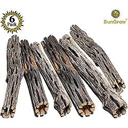SunGrow Natural Cholla Wood - 6 Pieces, 5 inches Long - Aquarium Decoration & Chew Toys small pets - Artistic Home-Decor - 100% Natural & pet safe - Fertilizer Free - Long Lasting Driftwood