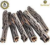 SunGrow Natural Cholla Wood - 6 Pieces, 5 inches Long - Aquarium Decoration & Chew Toys small pets - Artistic Home-Decor - 100% Natural & pet safe - Fertilizer Free - Long Lasting Driftwood