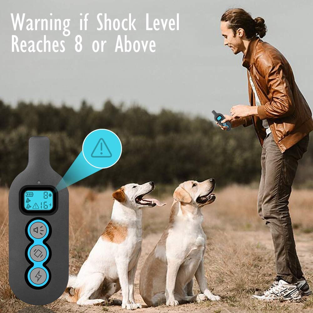 Dog Training e Collar, Shock/Vibrate/Beep Collar for Dog, IPX7 Waterproof Pet Trainer with Remote, Fast Training Effect Bark Collar for Big/Medium/Small Dog, 1000FT Max Remote Range, Long Battery Life