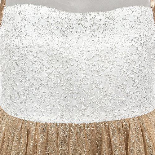 6 Wedding Tan Color Girls Flower Dress Hem Communion 14 Years Lace Size First 78ZIPqn