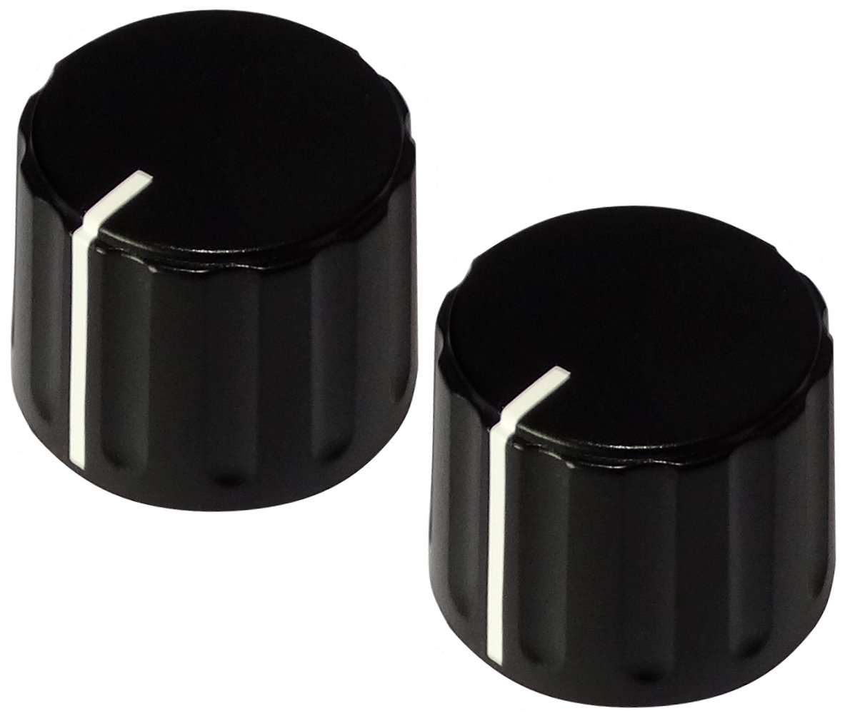AERZETIX 2X Bot/ón para potenci/ómetro 6mm /Ø21,5x17,1mm de ABS Negro C12484