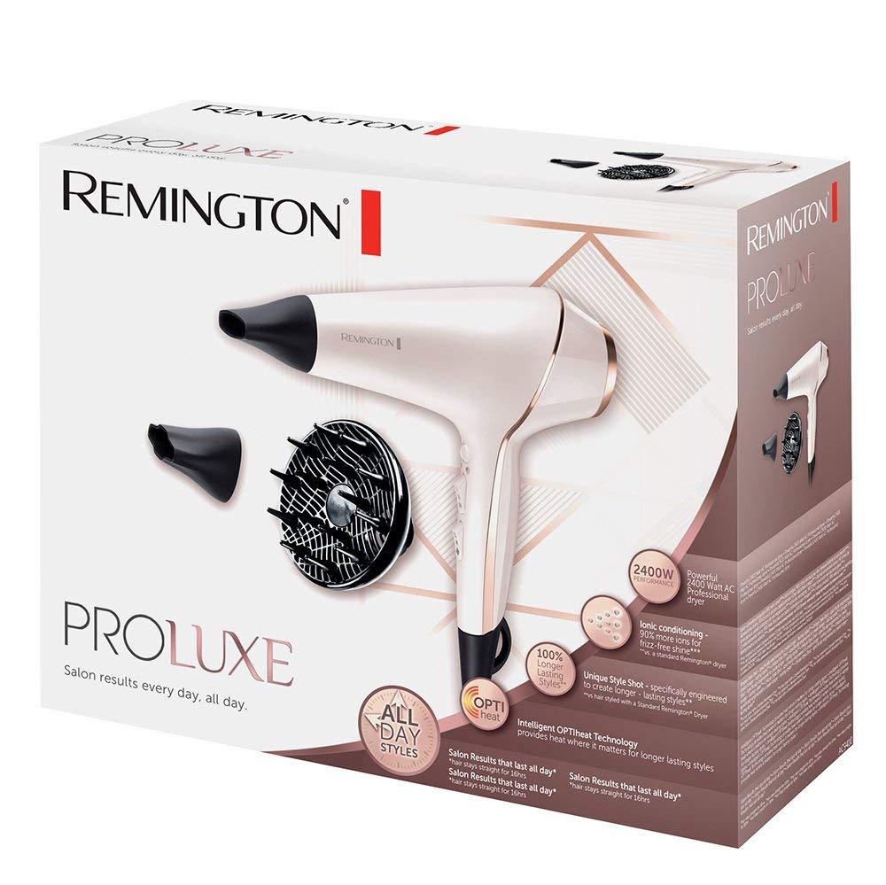 Remington PROluxe AC9140 - Secador de Pelo Profesional, Secador Iónico, Difusor y Concentrador, 2400 W, Rosa: Amazon.es: Salud y cuidado personal