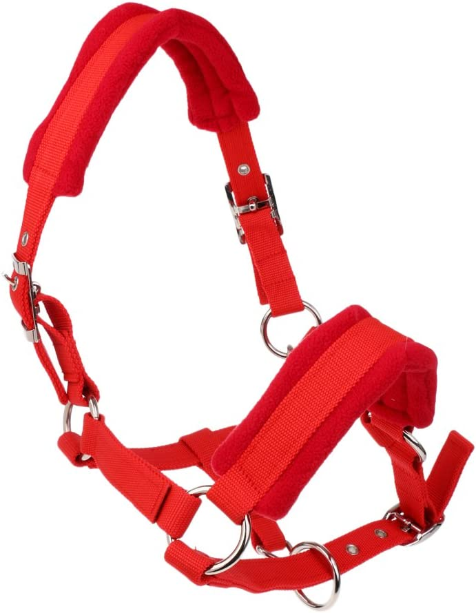 MagiDeal Cabezada para Caballo Cuello Ajustable Color Rojo