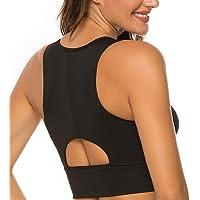 nine bull Womens High Impact Sports Bra - Workout Crop Top Longline Sports Bra for Workout Yoga Gym
