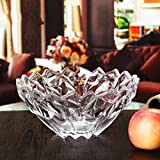 modern European style glass fruit dish coffee table Home Decoration Fruit basket fruit Dried fruit plate large