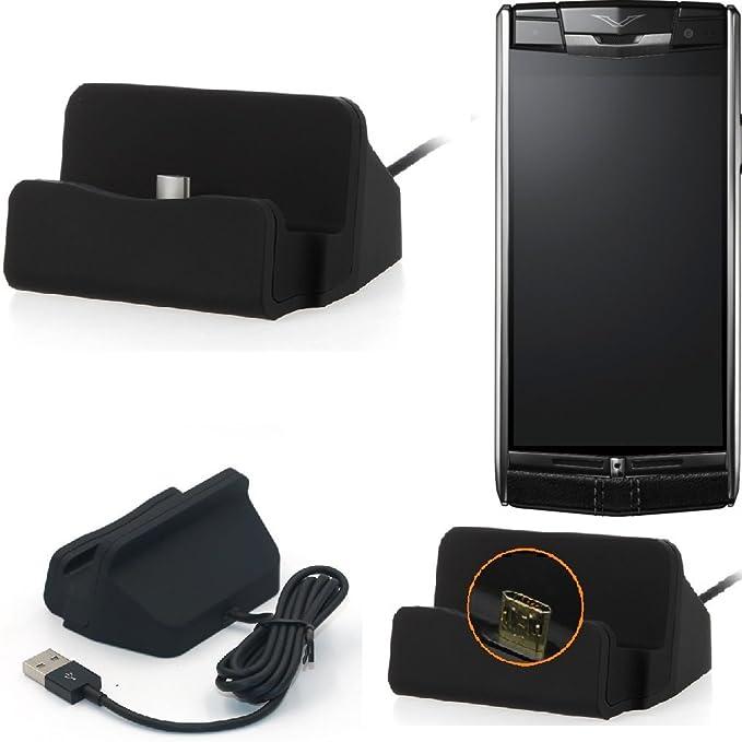 Estación F. Vertu Signature Touch, Negro, Micro USB Estación de ...
