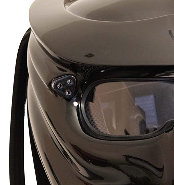 Amazon.com: Predator Motorcycle Helmet X1 Black Base with Led Lamp made by XFF Fiber Factory (S): Automotive