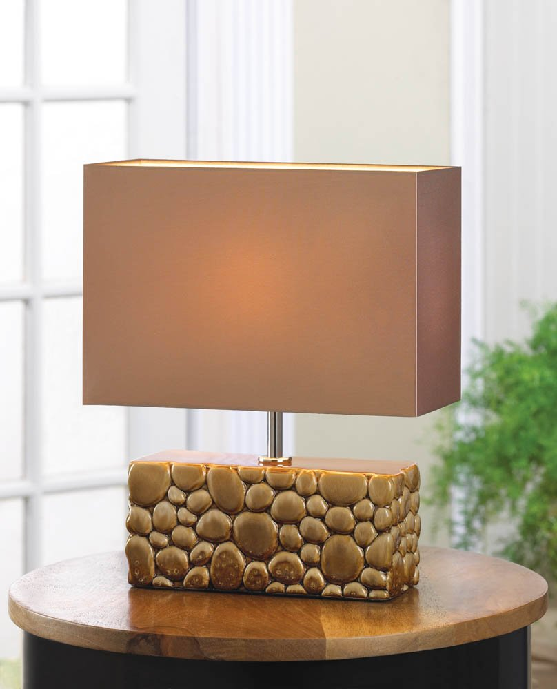 Amazon fa decors contemporary faux river rock table lamp amazon fa decors contemporary faux river rock table lamp home kitchen mozeypictures Gallery