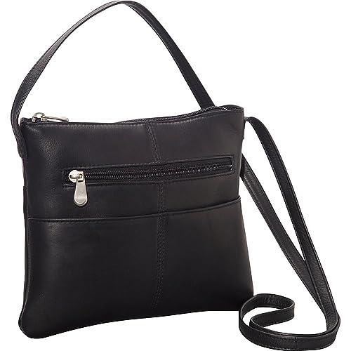 Le Donne Leather Three Slip Crossbody (Black)  Handbags  Amazon.com 89f122e418b4b