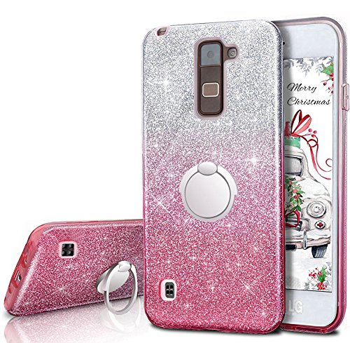 online store 2dd32 adea0 LG Stylo 2 V Case,LG Stylo 2 / Stylo 2 Plus / Stylus 2 Glitter Case  ,Silverback Girls Bling Glitter Case With 360 Rotating Ring Stand, 3 Layers  Cover ...
